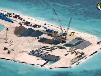 赤瓜礁人工岛 菲军公布中国扩建赤瓜礁照